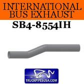 """1686801C1 International Bus Pipe 3 Bend 3.5"""" OD-OD ALZ"""