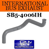 "3554832C1 International Bus Pipe 4 Bend 3.5"" OD With Flared Flat ALZ"