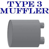 "Type 3 Muffler 11"" x 30 4""ID Inlet 5"" ID Outlet Aluminized (M-033)"