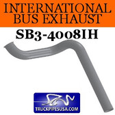 "3584619C2 International Bus Pipe 3 Bend 3.5"" OD Flared End ALZ"
