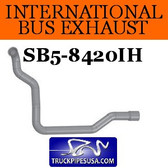"2029954C2 International Bus Pipe 7 Bend 3"" 3.5""OD Flared End ALZ"