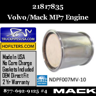 21817835 Volvo/Mack DPF for MP7 Engine