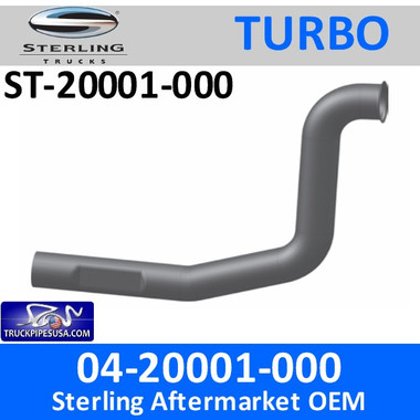 04-20001-000 Sterling Exhaust Turbo Pipe ST-20001-000 - SPECIAL ORDER