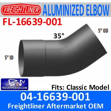 04-16639-001 Freightliner 35 Deg ALZ Exhaust Elbow FL-16639-001