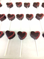 Chocolate Covered Strawberry Heart Pop