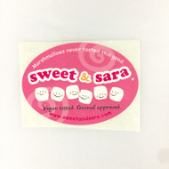 Sweet & Sara Logo Sticker