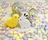 Sugar Coated Marshmallow Bunny & Chick