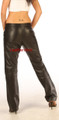 Genuine leather women's soft supple nappa dress trousers WDTr