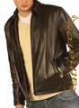 Men&#039;s leather jacket goat skin top soft supple plain