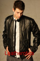 Men&#039;s leather stylish jacket high waist jcbox