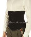 Corset for men Black cotton underbust steel boned support 1214MC