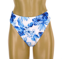 "B622 Regular Coverage 2"" Side Bikini Bottom ""BLUE HAWAII "" NNY NWI"