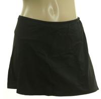 B95 Black Solid Skirted Bottom