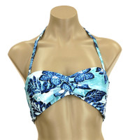 """TW67 Twisted Bandeau With Soft Cups And Tie BacK """"Paradise Again"""" JPE"""