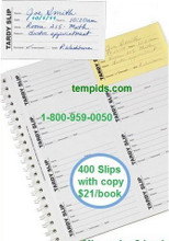 Tardy Slip book with carbon copy Below 400 transactions per book