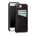 Sena Snap-on Wallet case with card slots - genuine leather - for iPhone 7 Plus, Black