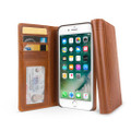 Twelve South Journal - full grain genuine leather folio wallet case - iPhone 7 and 8 Plus, Cognac Brown