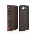 Twelve South BookBook Vintage Style Wallet Style Leather Handmade Case, Ledger Brown - iPhone 5 / 5s / SE