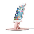 Twelve South HiRise Deluxe - Adjustable metal Desktop Stand/Dock with lightning and micro USB cable - iPhone 5/SE/6/6s/7 & iPad, Rose Gold