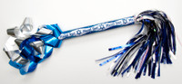 "9"" Mazel Tov Swisher Pom-Pom with Metallic Confetti Streamers"