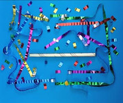 "18"" Airless Confetti Launcher Filled with Metallic Streamers & Confetti"