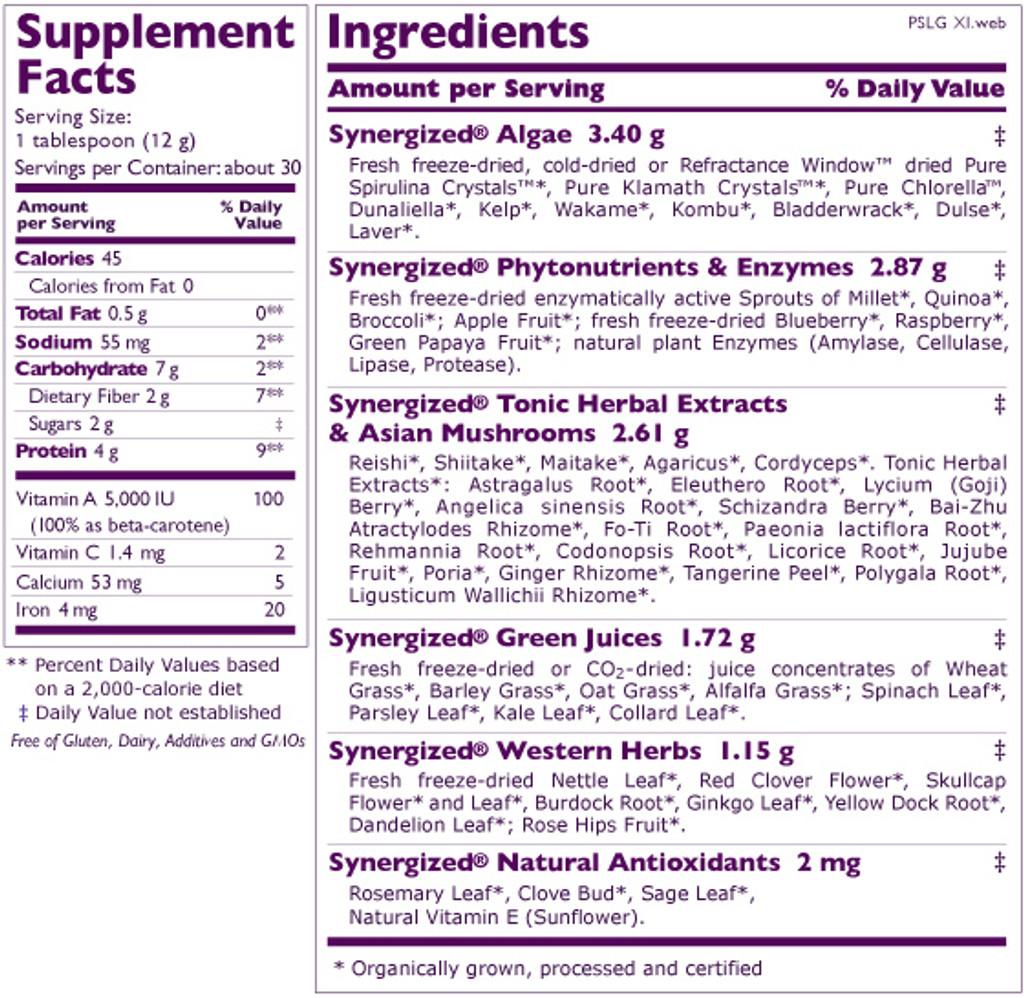 Synergy Company's Pure Synergy Superfood Blend