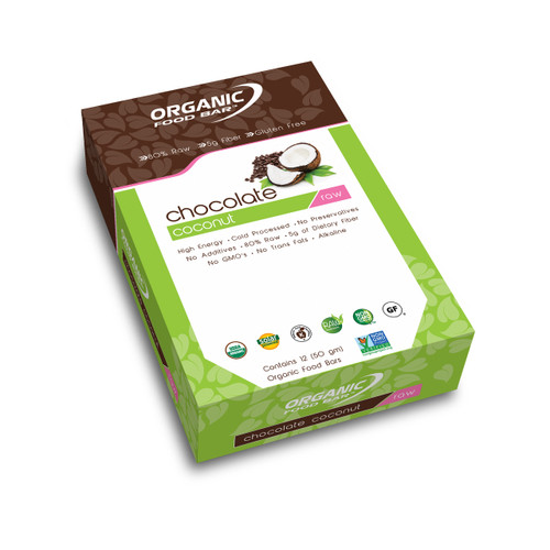 Organic Food Raw Bar - Chocolate Coconut - Box of 12