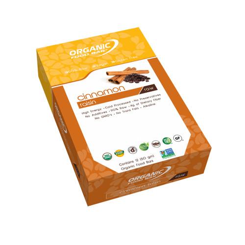 Organic Food Raw Bar - Cinnamon Raisin - Box of 12