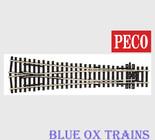 Peco SL98 1054 Code 100 Large Radius Wye Turnout - Streamline Insulfrog