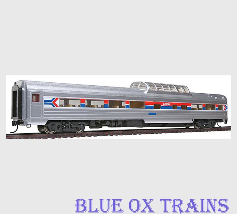 Walthers 9097 HO Scale Amtrak Budd 48 Seat Vista Dome Coach Car Phase I