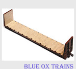 American Model Builders AMB 398 HO Scale MDC Roundhouse 60' Bulkhead Flat Car Laser Cut Wood Deck
