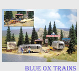 Busch 1054 HO Scale Airstream Trailer Park Kit