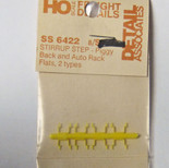 Detail Associates 6422 Piggy Back - Auto Rack Flats Stirrups HO Scale