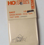 Detail Associates 6427 Freight Car Grab Irons 19.5 Drop pkg(12) HO Scale