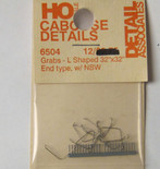 Detail Associates 6504 Caboose Grab Irons L Shaped (pkg 10) HO Scale