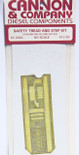 Cannon 2002 HO Detail Part Brass Safety Tread Side Step Kit for Athearn SW1000 and SW1500