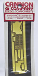 """Cannon 2036 HO Scale Detail Part Brass Safety Tread & Step Kit For New (2007 Run) Athearn SD40-2 w/88"""" Nose Short Hood"""