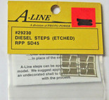 A-Line 29230 HO Scale Etched Brass Diesel Steps RPP SD45