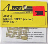 A-Line 29233 HO Scale Etched Brass Diesel Steps RPP B23-7