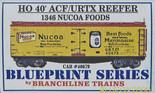 BRANCHLINE BLUEPRINT HO 40' ACF/URTX REEFER NUCOA FOODS #1346