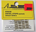 A-Line 29236 HO Scale Etched Brass Diesel Steps Athearn SD40-2