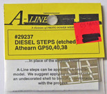 A-Line 29237 HO Scale Etched Brass Diesel Steps Athearn GP50 GP40 GP38