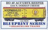 BRANCHLINE BLUEPRINT HO 40' ACF/URTX REEFER DORMAN CHEESE KIT #1344