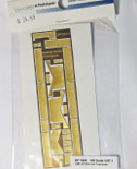 Railflyer 1024 HO Scale Detail Part EMD Locomotive Treadplate GP38 Diesels w/Wide Cab
