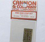Cannon 2024 HO Scale Detail Part Photo-Etched Brass EMD Side Step Set Athearn SD45-2