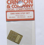 Cannon 2023 HO Scale Detail Part Photo-Etched Brass EMD Side Step Set Athearn SD45T-2