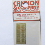 Cannon 2022 HO Scale Detail Part Photo-Etched Brass EMD Side Step Set Proto 2000 GP7, 9, 18 & 20