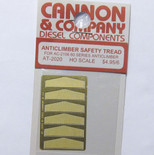 Cannon 2020 HO Scale Detail Part Photo-Etched Brass Anticlimber Safety Tread pkg(6) Fits #2106 60-Series