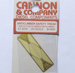 Cannon 2019 HO Scale Detail Part Photo-Etched Brass Anticlimber Safety Tread pkg(6) Fits #2105 50-Series