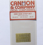 Cannon 2012 HO Scale Detail Part Photo-Etched Brass EMD Side Step Set Proto 2000 SD45